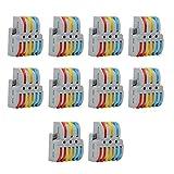 【𝐑𝐞𝐠𝐚𝐥𝐨】terminale a morsetto per blocco di cavi colorati, terminale di cablaggio a colori sicuro, controlli elettrici leggeri per connettori per cavi a pulsanti colorati cavi elettrici