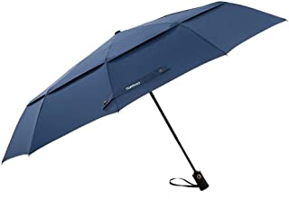 TOMSHOO Golf Umbrella Auto Open 50 Inch Windproof Travel Umbrella with 10 Ribs Double Canopy Folding