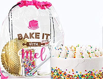 Bake it With Mel - Funfetti Cookie Surprise Cake. Creative Gift for Kids and Adults. DIY Cooking Activity Kit Complete with Recipe, Measured Ingredients, and Utensils