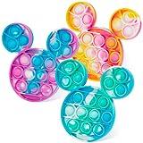 CONNOO 3PCS Tie-dye Pop Fidget Sensory Toys, Bubble Push Popping Fidget Sensory Toys for Autistic, Push Pop Fidget Toy, Stress Relief Toy for Adults, Students and Friends(Tie-dye Color, Mouse)