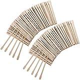 500 Stücke Kleine Wachs Spatel Holz Wachs Sticks Augenbrauen Waxing Applikatoren Holz-Craft-Sticks Gesicht Körper Haarentfernungssticks