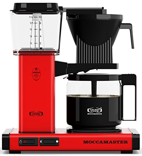Technivorm Moccamaster 59636 KBG, 10-Cup Coffee Maker, 40 oz, Red