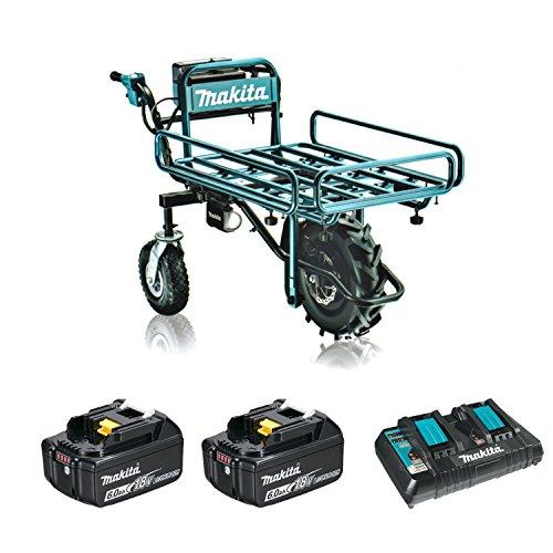 マキタ18V充電式運搬車CU180DZ+パイプフレーム+バッテリ2個+充電器付セット(柴商アクセサリ収納バッグ付)