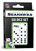 Officially Licensed NFL Product 6 standard size die All dice have Seattle Seahawks designs and colors MasterPieces - An American Puzzle & Game Company. We stand behind our products and guarantee your satisfaction. 6 Dice Set