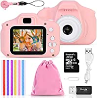 Faburo Set de Cámara de Fotos Digital para Niños, Cámara Infantil con Tarjeta de Memoria Micro SD 32GB, Cámara Digital...