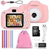 Faburo Set de Cámara de Fotos Digital para Niños, Cámara Infantil con Tarjeta de Memoria Micro SD 32GB, Cámara...