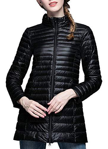 HuntDream Active Softshell-Reißverschluss-Leichtgewichts-Packable Daunenjacke für Damen