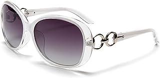 BLDEN Lunettes de Soleil Polarisées Femmes, Mode Stylish Casual Lunettes de Soleil Oval Élégant UV 400 Protection