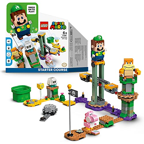 LEGO 71387 Super Mario Aventuras con Luigi Pack Inicial, Juguete con Mini Figura Interactiva, Set de Construcción, Starter Pack
