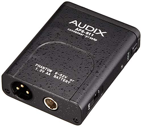 Audix Aps-911 Phantom Power Supply and Adapter for Adx40, Microd, Ht2P, Adx10Flp, Adx10P, Adx20Ip & Adx60 Microphones