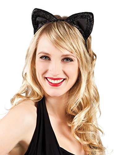 Boland 52336 - Haarreif Katze, aus Samt, Einheitsgröße, Mehrfarbig
