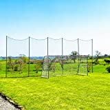 Socketed Stop That Ball - Multi-Sport Ball Stop Netting System for The Backyard, School or Sports Clubs (20ft)