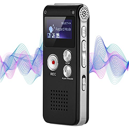 8GB Digital Voice Recorder Professional, Rechargeable Mini Voice Recorder...