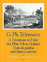 TELEMANN - Trio Sonata en Fa Mayor (TWV:42/f 5) para Flauta, Viola y BC (Partitura/Partes)
