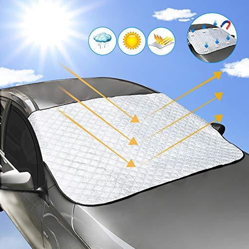 DEKINMAX Sonnenschutz Auto, Faltbar Sonnenblende Frontscheibe Autosonnenschutz Summer Mit UV Schutz Sonnenschirm Windschutzscheibe Car Sun Shade für SUVs, LKWs, PKW, KFZ 180 * 110CM