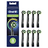 Oral-B CrossAction Cabezales de recambio con tecnología CleanMaximiser Black Edition, Pack de 8