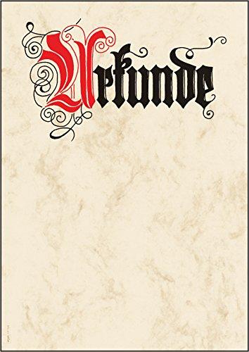 SIGEL DP548 Blanko Urkunde Calligraphie 185 g, DIN A4, 12 Blatt