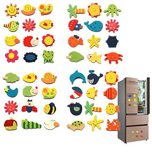 12pcs/lote de madera imán refrigerador pegatinas de animales dibujos animados coloridos juguetes para niños para niños bebés educativos