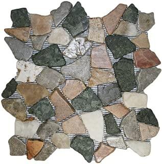 Glazed Autumn Mosaic Tile 1 sq.ft. (Mesh Mounted)