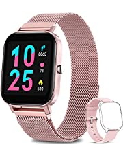 AIMIUVEI Smartwatch Donna, Orologio Fitness Tracker da 1,4 Pollici Smart Watch Bluetooth Contapassi Calorie Cardiofrequenzimetro da Polso Orologio Sportivo IP67 Activity Tracker per Android iOS - Rosa