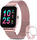 AIMIUVEI Smartwatch Donna, Orologio Fitness Tracker da 1,4 Pollici Smart Watch Bluetooth Contapassi Calorie Cardiofrequenzimetro da Polso Orologio Sportivo IP67 Activity Tracker per Android iOS - Rosa