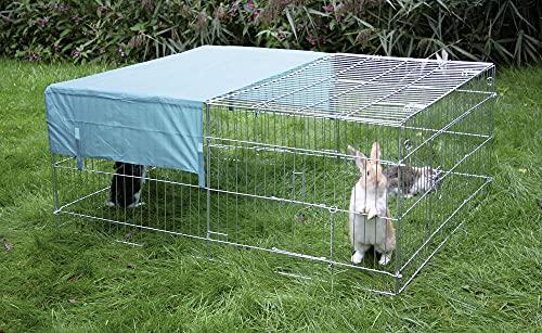 Kerbl Freilaufgehege, 144x112x60 cm (Gehege für Hasen, Kaninchen) 83172