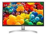"LG 27UL500 Monitor 27"" UltraHD 4K LED IPS HDR 10, 3840x2160, 1 Miliardo di Colori, AMD FreeSync 60Hz, HDMI 2.0 (HDCP 2.2), Display Port 1.4, Uscita Audio, Flicker Safe, Bianco"