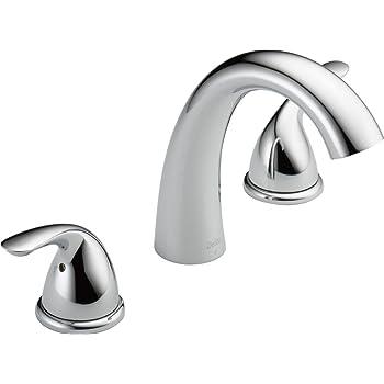 Huntington Brass 14730-01 8-Inch Chrome S7320001 16-Inch Builders 2-Handle Deck-Mount Roman Tub Faucet