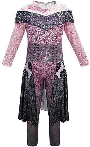 Jongens Meisjes Outfit Halloween Kostuums Afstammelingen 3 Audrey Jumpsuit Cosplay Kostuum 150cm Paars