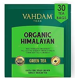 Himalayan green tea leaves (30 tea bags), 100% natural weight loss tea, detox tea, slimming tea, ANTI-OXIDANTS RICH - green tea bags - brew hot or iced tea - 15 ct