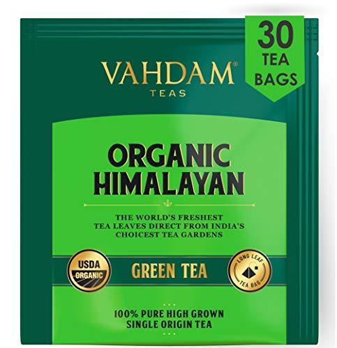 Grüne Teeblätter aus Himalaya (30 Tea Bags), 100% natürlicher Gewichtsverlust-Tee, Detox-Tee, Tee abnehmen, ANTI-OXIDANTS RICH - Grüner teebeutel - Brauen Sie heißen oder Eistee - 15 Ct