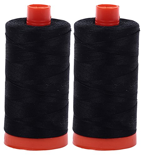 Why Should You Buy Aurifil Mako 50wt Thread 2 Large Spools: Black (2692x2)