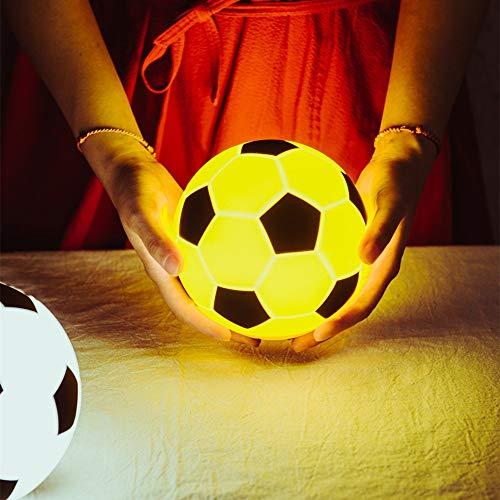 CHENXU Fußball LED Nachtlicht Touch Lampe Dimmbare USB wiederaufladbare Silikonball Nachtlampe für Kinder Kinder Baby Spielzeug Geschenk