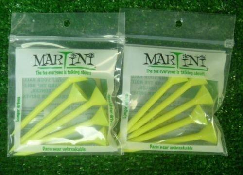 MARTINI 3 1/4″ YELLOW GOLF TEES – 2 PACKS