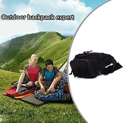 Kinhevao Sac de sport de plein air avec ceinture militaire pour le camping, le cyclisme, pour les amateurs de sports de plein air, Noir , Taille unique