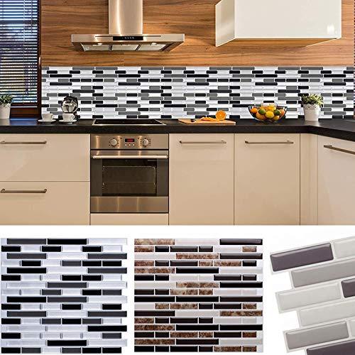 BLOUR Mosaico Autoadhesivo azulejo Protector contra Salpicaduras 3D Pegatina de Pared DIY epoxi baño Cocina decoración del hogarPegatinas de ParedImpermeables aPrueba de Aceite