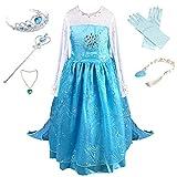 Anbelarui Mädchen Prinzessin Kleid Kinder Karneval Cosplay kostüm Set aus...