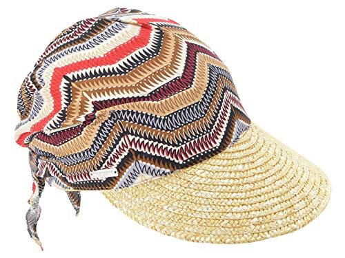 Seeberger Mütze mit Schirm aus Naturstroh - Natur-Multicolor (9394) - One Size