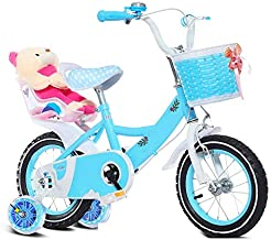 Axdwfd Kids' Bikes 12/14/16/18/20 inch, High Carbon Steel Children's Bicycle with Training Wheel Gift for 2-9 Years Old Boys and Girls