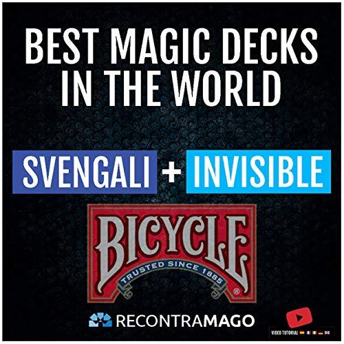 RecontraMago Magia Bicycle - Las Top Barajas Mágicas del Mundo Ahora en Cartas Bicycle - Trucos de Magia para niños y Adultos (Invisible + SVENGALI)