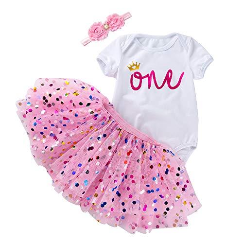 Marlegard Baby Meisjes 1e 2e Verjaardag Bodysuit Tutu Rok met Hoofdband