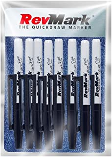 RevMark Industrial Marker - Permanent Ink - Ultra Fine Tip - 8 Pack (Made in the USA) (Black)
