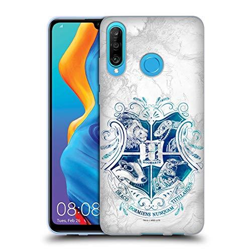 Head Case Designs Offizielle Harry Potter Hogwarts Aguamenti Deathly Hallows IX Soft Gel Huelle kompatibel mit Huawei P30 Lite