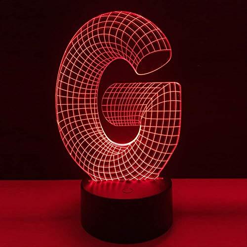3D nachtlampje LED bedlampje USB verlichting illusie light G make-uptafel eettafel decoratie bar huis verpakking kerstcadeau