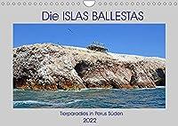 Die ISLAS BALLESTAS, Tierparadies in Perus Sueden (Wandkalender 2022 DIN A4 quer): Bilder von den Lebensraeumen der Guanovoegel in Perus Sueden (Monatskalender, 14 Seiten )