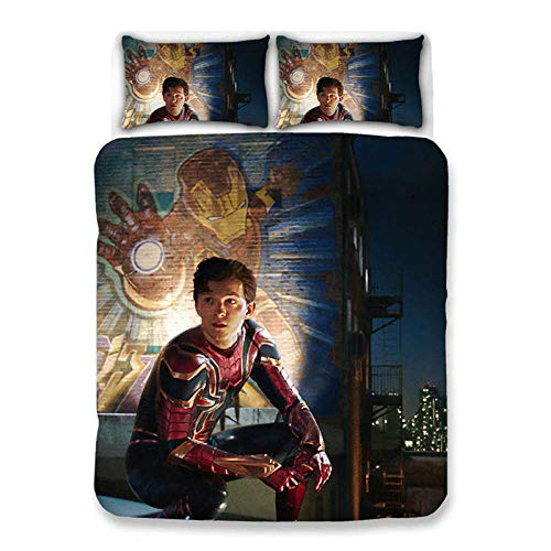 Lvvsovs Creative Bedding Duvet Cover Set for Single Double King Size Bed, individual 3DMovie characters Printed Microfiber Quilt Cover Sets with Pillowcases 135 x 200 cm