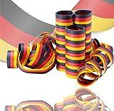 TK Gruppe Timo Klingler 3X Luftschlangen Deutschland schwarz, rot, gelb (Gold), als Deko, Dekoration, Partydeko für Fußball Europameisterschaft EM 2021