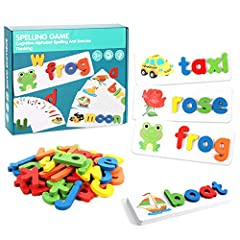 PERFECT FOR CHILD DEVELOPMENT: This letter spelling game improves kid's ability to learn and spell words, also helps to develop memory skills, strategic thinking, sociability, spelling and increases color recognition and concentration. Kids will love...