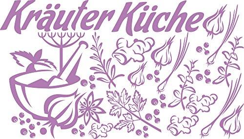 GRAZDesign Küchensprüche für die Wand Kräuter Küche - Wandtattoo Esszimmer Gewürze Pfeffer Mörse - Wandtattoo Küche Ingwer Zwiebel Gemüse / 100x57cm / 770059_57_042