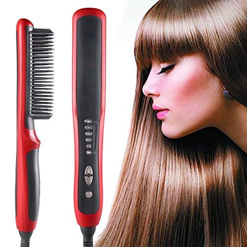 Elettrico Barba/raddrizzatore dei capelli del pettine della spazzola, Barba cura e Hair Styling veloce Shaping portatile barba pennello raddrizzatore